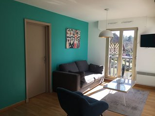 Deauville, vue mer, appartement 2 chambres, 6 personnes, wifi