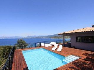 Belle villa moderne vue imprenable sur baie d'Ajaccio - 8 personnes