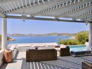 Lipsi : magnifique villa de 7 chambres - plage privée et vue exceptionnelle