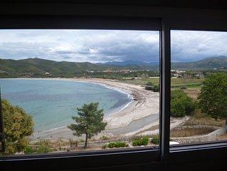 Appartement 5 couchages climatise sur la plage de Lozari a 7 km de l'Ile-Rousse