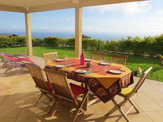 Location maison de plain-pied, belle vue mer, jardin, gde terrasse, 3 ch, 2 sdb
