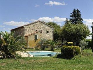 Magnifique Mas Provençal, piscine clôturée, entre Luberon et Alpilles, 10 pers.