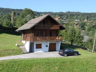 Chalet de montagne en rondins cosy (linge de maison inclus)