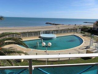 Location appartement bord de mer frontignan plage