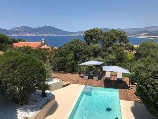 Villa luxe vue panoramique mer montagne piscine chauffée
