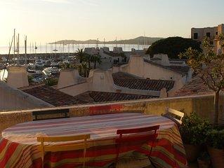 Duplex vue exceptionnelle sur le golfe de Saint -Tropez