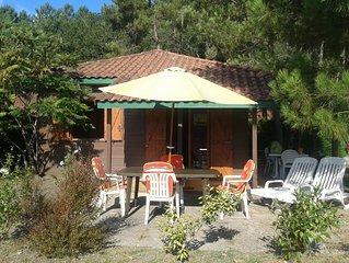 Chalet Camping 5 * Lit et Mixe Océan Bordure de forêt  Landaise