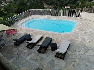 Villa Biot au calme sans vis a vis 1 h 30 des station de ski , 5 mnt des plages