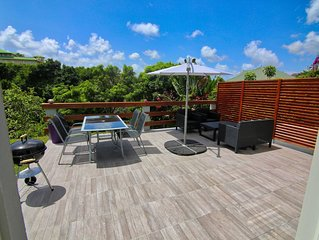 Magnifique bas de villa avec jacuzzi à  deux pas des plages de l'Anse Mitan