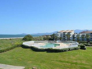 Saint-Cyprien plage locationT2 vue mer et montagne climatisé