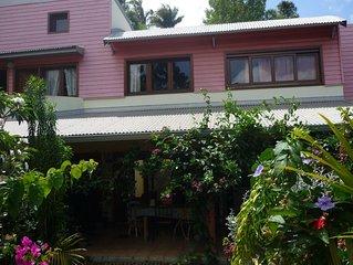 Magnifique maison dans un beau jardin avec vue sur l'ocean Indien
