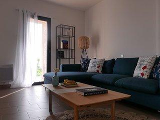 Appartement bas de villa - 3 chambres - 2 salles de bain - vue Golfe de Porto