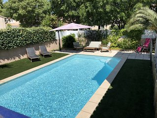Villa de standing 5 minutes de la mer piscine sécurisée proche piste cyclable
