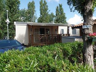 Mobile Home climatise neuf VIAS Plage Camping **** La Carabasse - Mer et piscine