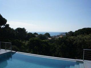 villa vue mer, piscine et climatisation