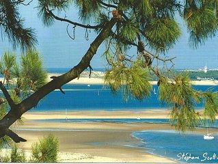 Pyla Sur Mer: villa  belle déco bord de mer calme et verdure- plage à proximité-