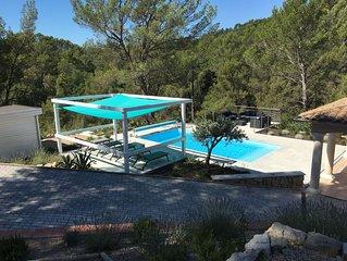 Villa avec piscine entre la Cote d'Azur et les Gorges du Verdon (8 personnes)