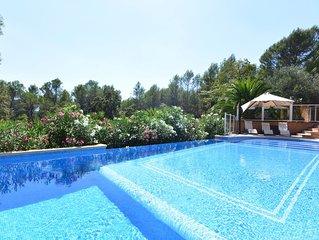 Maison 350m²  climatisée, pleine nature Piscine Terrasse 9 chambres