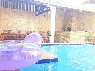 Casa de praia com piscina  em Uruau