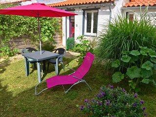Petite maison pour 2 pers avec jardin a 5 min de la plage