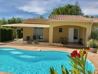 Agréable villa climatisée avec piscine privée et chauffée; belles prestations
