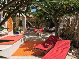 Villa Blanca,  9pers., Familles, Amis, Vue Mer, 30m de la plage, Tranquilité
