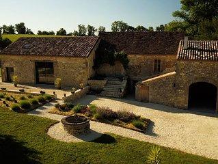 Maison de charme en pierre avec piscine privative chauffée