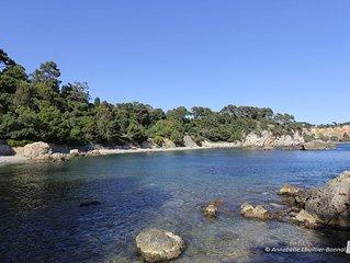Vacances méditerranée : villa vue mer plages à 150 m
