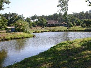 villa d'exception avec piscine   proche contis plage