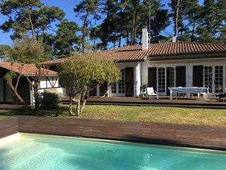 Seignosse-Plage  Les Bourdaines  : maison avec piscine