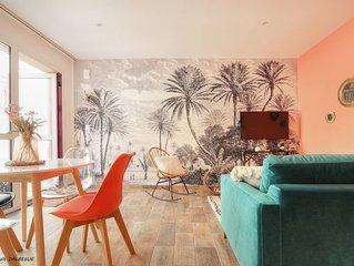 Appartement «Villa La Palmeraie», au calme, à 5mn de la Gare et du Metro