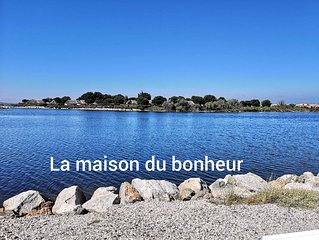 Charmante Maison face au lac marin climatise