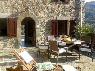 Toscane, maison authentique pierres naturelles - piscine - 4 pers (poss 6 pers)