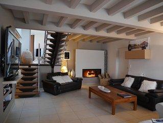 Maison sur la plage avec 100 M2 de terrasse