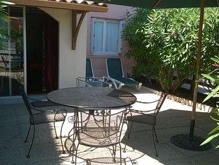 CAP D'AGDE, T3, 2 chambres, 6 couchages, terrasse, 100m plage du mole