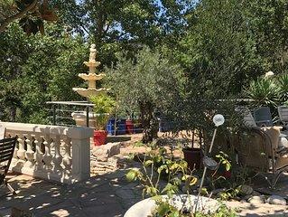 Appartement avec piscine dans villa sécurisée à 'Le Tholonet' prés d'Aix en Prov