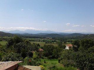 Chambre d'hôtes 2 personnes vue imprenable sur les montagnes  près de Mirepoix