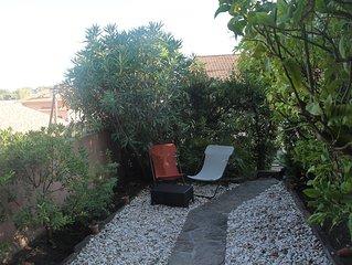 Agréable apt en rez de jardin - terrasse, jardin privatif - vue 'échappée mer'