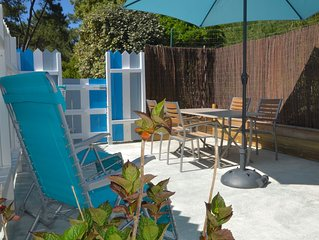 Maisonnette avec terrasse, neuve
