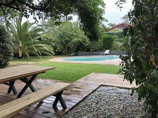 HOSSEGOR FOND DU LAC Maison avec piscine au calme Estagnots et Culs nus a pied