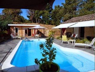 Maison calme Porticcio 10 personnes avec piscine
