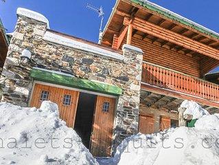 Chalet bois independant proche pistes Pyrenees 2000 WIFI tout confort