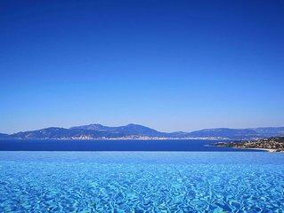Luxueuse villa avec piscine chauffée près d'Ajaccio, vue 'magique' mer-montagne