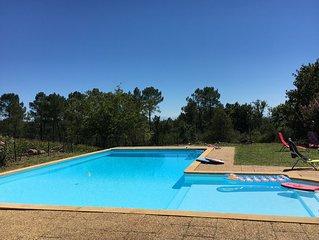 Magnifique ferme landaise XVIIIeme siecle, avec piscine, 16 personnes