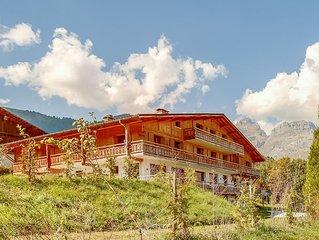 4 chambres pour 9 dans magnifique chalet face au Mont-Blanc