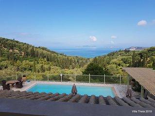 Villa Theia, vue magnifique au coeur des oliviers