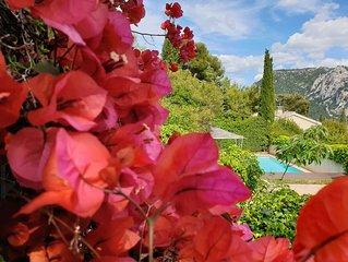 Villa standing vue mer, piscine chauffee, jacuzzi, bebes bienvenus