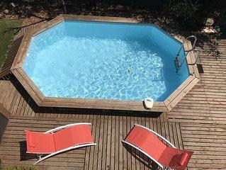 Villa avec piscine privée à 2min à pied de la plages, cuisine ultra équipée