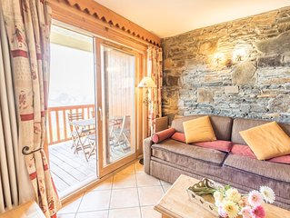 Appt cosy res4*/6pers 2ch 2 sdb ski au pied piscine parking wifi reduc forfaits