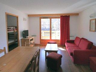 Wifi, à 80m des pistes de ski, balcon, parking, télévision, 40m², Vars